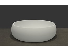 Add Pacific charm to the bathroom with the beautiful stone Lotus Basin from Apaiser Bathware