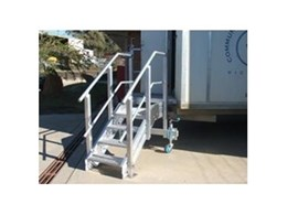 Adjustable aluminium stairs from Elevated Safety Systems suitable for uneven ground