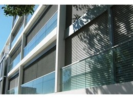 Aerolite retractable louvre system available from Viva Sunscreens