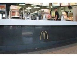 Akril splashbacks installed in McDonald's restaurant