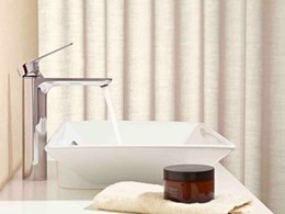 Aleo tapware from Kohler featuring subtle design and geometric profiles