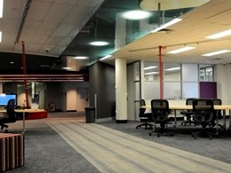 Allplastics' decorative ceiling panels at Meadowbank Tafe office