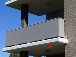 Alucobond cladding for Ralan Homes balcony