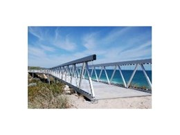 Aluminium foot bridges available from Landmark Products