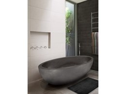 Apaiser's Sentosa stone bathware makes dramatic statement
