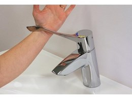 Aquablend SQX range of hygienic lever taps available from Enware Australia