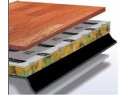 Aquacoustic timber cushion from Dunlop Flooring: moisture control for floating timber floorboards