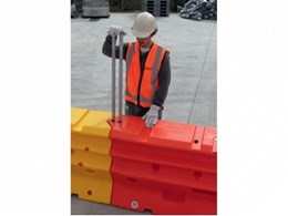 ArmorZone temporary water filled barriers from Coates Hire