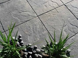 Atenstone Fossilstone wet cast pavers available from Adbri Masonry
