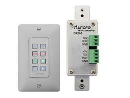 Aurora Multimedia DXB-8 eight-button wall panel with backlit buttons