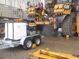 Aussie Hydrotek steam cleaner heads for mine site