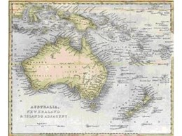 Australia, New Zealand & Adjacent antique map from Art Emporium