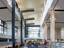 Australia's 1st green public building enriched by Supawood decorative acoustic tiled ceilings