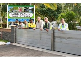 BLOBEL Environmental Engineering installs manual flood barrier system BL/HDS at Lake Placid Tourist Park in Cairns