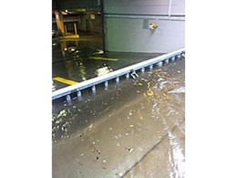 BLOBEL flood barrier protects underground garage from flooding