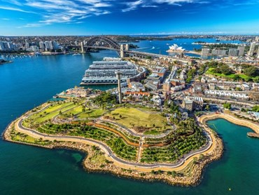 Barangaroo Reserve by Peter Walker and Partners Landscape Architecture with Australian-based Johnson Pilton Walker Architects and Landscape Architects. Photo: Barangaroo Delivery Authority