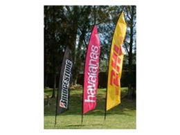 Beach banners from Portable Displays Australia
