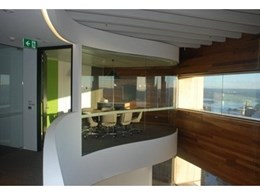 Bent and Curved Glass acoustic glazing used for GPT Group head office fitout