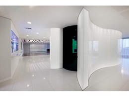 Bent and Curved Glass supply decorative glass for IBA Health Australasian Headquarters