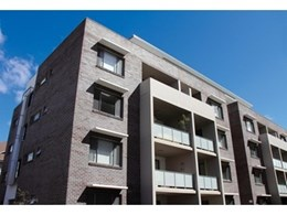 Blue Steel Flash face bricks from PGH Bricks & Pavers used for Eora Apartments project in Dulwich Hill