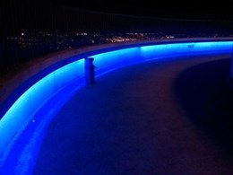 BoscoLighting's colour changing LED lighting on Canberra's highest spot