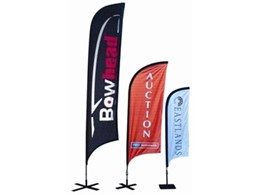 Bowhead flags banner stands from National Sign Systems