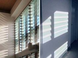 Breezway Altair louvre windows play on light and shadow