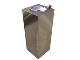 Britex's square-shaped stainless steel drinking fountains