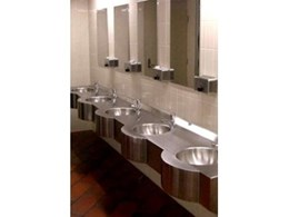 Britex supplies vandal proof washroom fittings for Melbourne Central Station