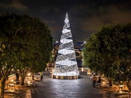 Brookfield ignites the festive spirit with stunning Ribbon Cone Christmas Tree on King Street Wharf