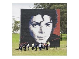 Burlesque and Dynasty brick mural tribute to Michael Jackson unveiled by Austral Bricks