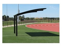 Cantaport shade structures from Greenline Shade and Shelter installed at Casey Athletic Fields