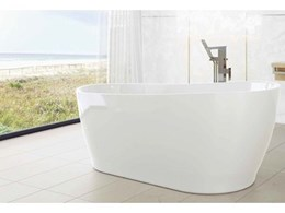 Caroma freestanding bath now available in white