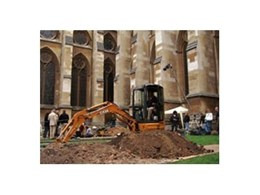 Case digs up Westminster Abbey using CX27B mini excavator