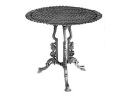 Cast iron garden tables available from The Wagga Iron Foundry