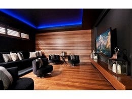 Castelation Two Tone makes for magnificent media room