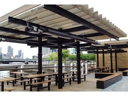 Celmec Heatray Tube Radiant Gas Heaters installed at the Boatbuilders Yard in Melbourne