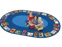Childrens educational library floor mats available from Raeco