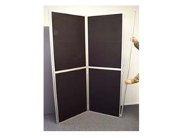 Clip and Pole display boards available from Portable Displays Australia