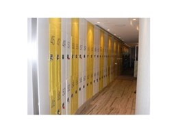 Coin operated lockers from Davell Products supplied to the Ivy Bar in Sydney