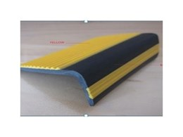 Colored anti-slip rubber stair nosing from Floorsafe International