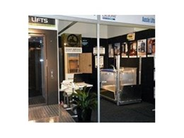 Commercial and residential lifts from Aussie Lifts displayed at Brisbane Courier Mail Home Show