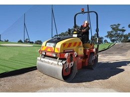 Compact tandem roller from Kennards Hire profiles new golf range
