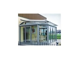 Complex conservatory glass roof retractable awning