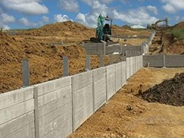 Concrib sleeper walls used in NSW development