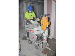 Continuous mixing pump from Kennards Concrete Care used for large grouting job