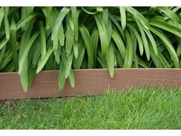 Create garden designs and shapes with EnviroSlat wood plastic composite garden edging from Futurewood
