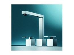 Cubic three piece tapware available from Accent International