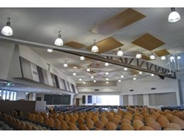 Custom acoustic panels installed at Clayton Church of Christ, Melbourne