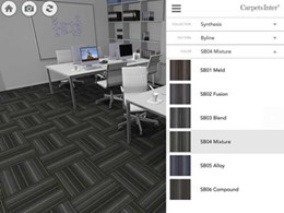 Custom carpet designs too easy with new Above Left  3D virtual simulator app